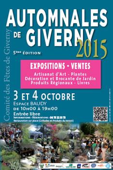 Les Automnales de Giverny 3 et 4 octobre 2015 à l'Espace Baudy 27 Eure Métissage et Matières