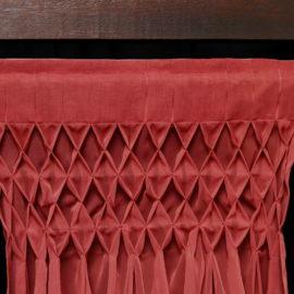 Tête de voilages rideaux tapissière plis smocks nid d'abeille Métissage et matières