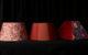 Abat-jour et suspension contrecollés en soie doupion, brodée et chintz hollandais Métissage et Matières