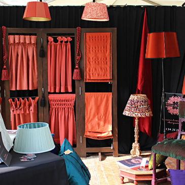 Exposition Métiers d'Art Les Automnales de Giverny les 3 et 4 octobre 2015 – Tapissier tapissière Abat-jouriste Métissage et Matières
