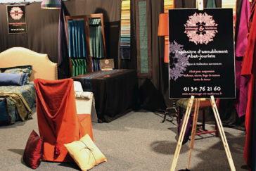 Exposition Salon de l'habitat et de la décoration de Vernon les 30 et 31 janvier 2016 - Tapissier tapissière Abat-jouriste Métissage et Matières