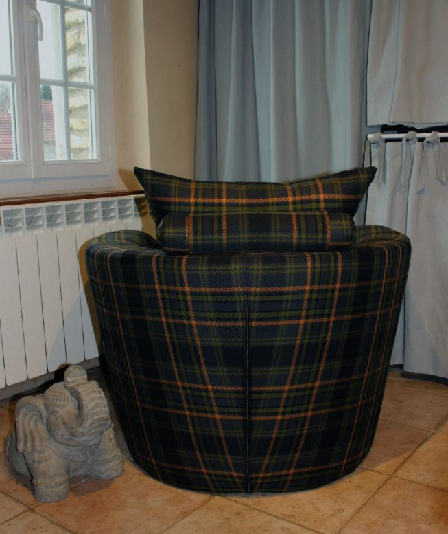 Si ge contemporain m tissage mati res for Housse fauteuil club