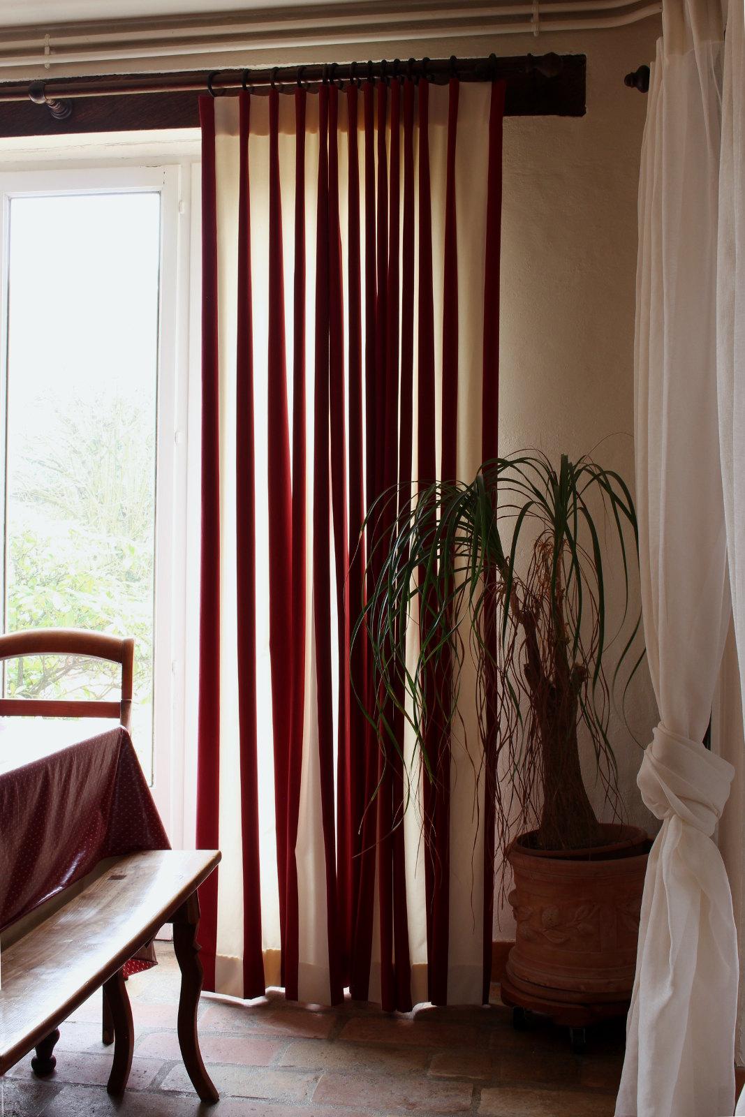 rideaux rayures voilages sur mesure m tissage mati res. Black Bedroom Furniture Sets. Home Design Ideas