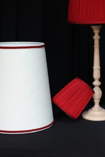 Ensemble abat-jours forme américaine Tapissier tapissière Fabricant de luminaires abat-jour Métissage et Matières Yvelines 78 Eure 27 Hauts-de-Seine 92 Paris 75