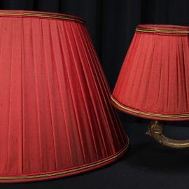 Abat-jours plissés soie changeante pour lustre et pied de lampe ancien