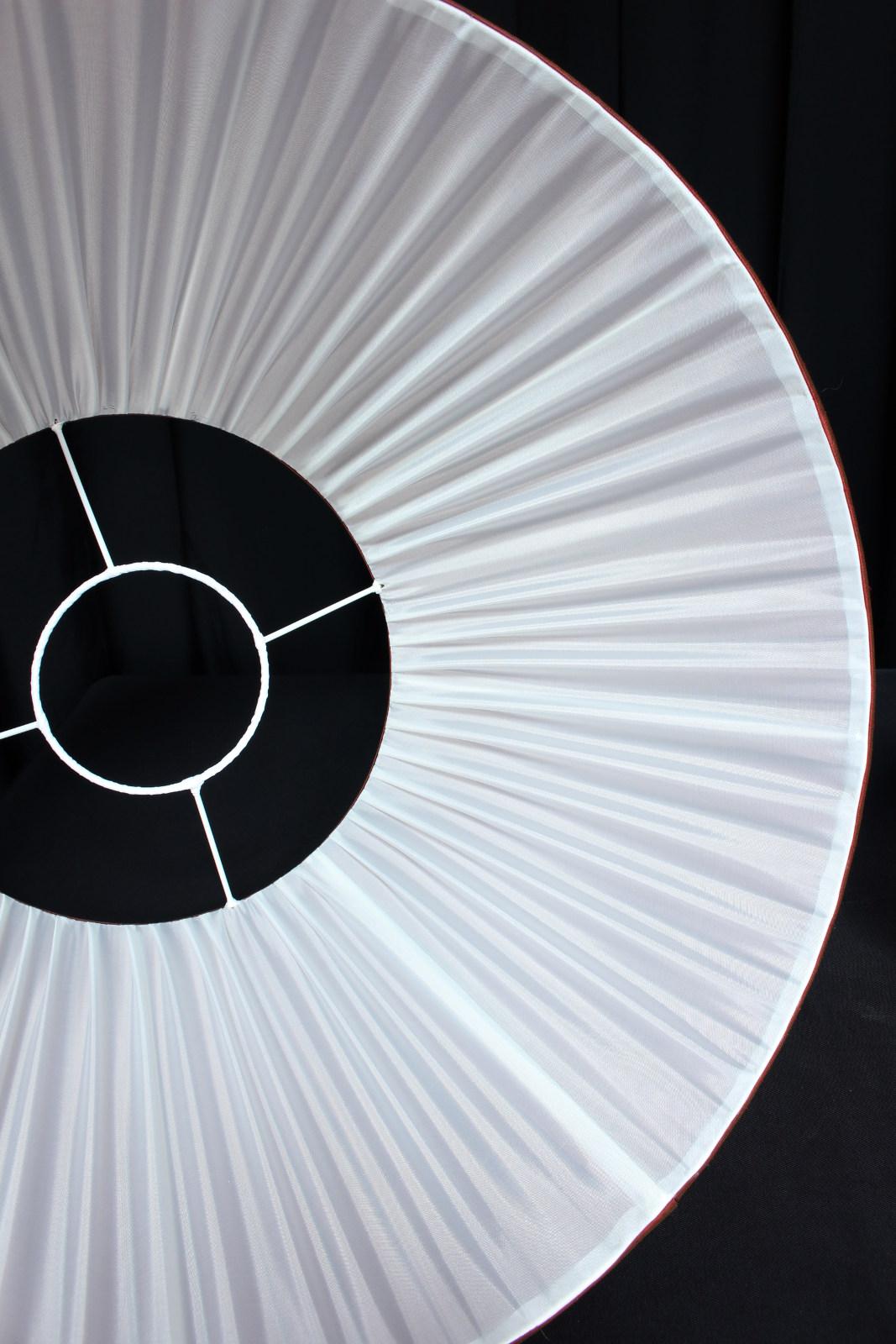 abat jours pliss s soie changeante pour lustre et pied de lampe ancien m tissage mati res. Black Bedroom Furniture Sets. Home Design Ideas