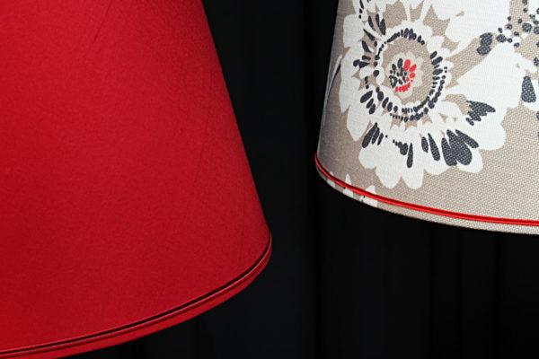 Abat-jours forme tambour contrecollés en lin et soie Tapissier tapissière Fabricant de luminaires abat-jour Métissage et Matières Yvelines 78 Eure 27 Hauts-de-Seine 92 Paris 75