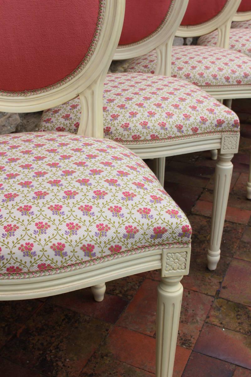 Renover Une Chaise Medaillon restauration chaises médaillon style louis xvi - métissage