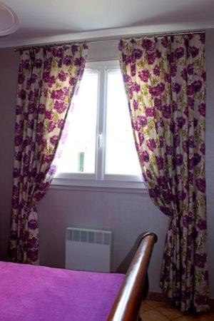 Rideaux tête tapissière tissu floral aquarelle Romo Tapissier tapissière Abat-jouriste Métissage et Matières Yvelines 78 Eure 27 Hauts-de-Seine 92 Paris 75