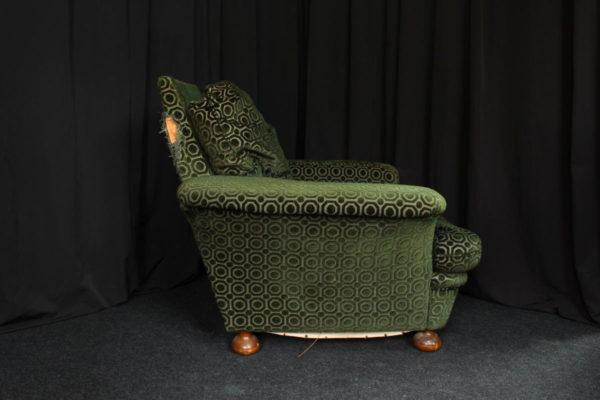 Restauration fauteuils vintage années 80 avant réfection Tapissier tapissière Fabricant de luminaires abat-jour Métissage et Matières Yvelines 78 Eure 27 Hauts-de-Seine 92 Paris 75