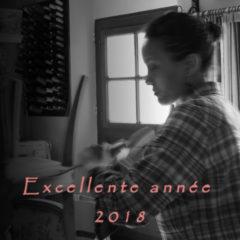 Voeux année 2018 atelier tapisserie d'ameublement et fabrication de luminaires Métissage et Matières Blaru Eure 27 Yvelines 78 Paris 75