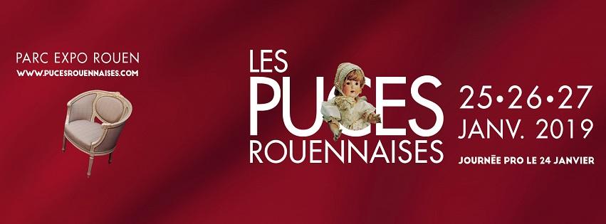 Les Puces Rouennaises au Parc des Expos de Rouen du 25 au 27 janvier 2019 - Tapissier décorateur tapissière décoratrice et Abat-jouriste Métissage et Matières