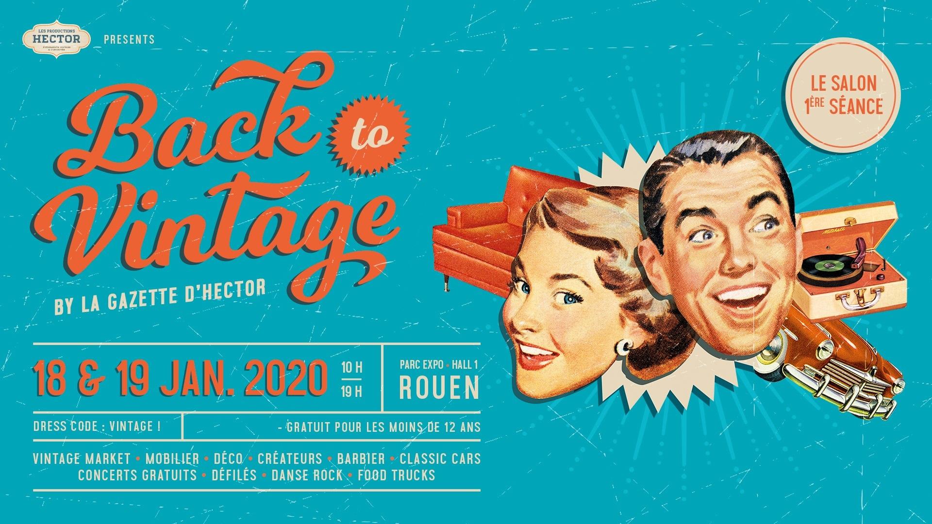 Salon Back To Vintage au Parc des Expos de Rouen les 18 et 19 janvier 2020 - Tapissier décorateur tapissière décoratrice et Abat-jouriste Métissage et Matières