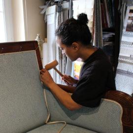 Gwendoline Tapissier tapissière Abat-jouriste Atelier Métissage et Matières Yvelines 78 Eure 27 Hauts-de-Seine 92 Paris 75